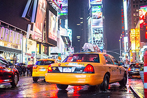 etats unis new york times square taxis jaunes  it