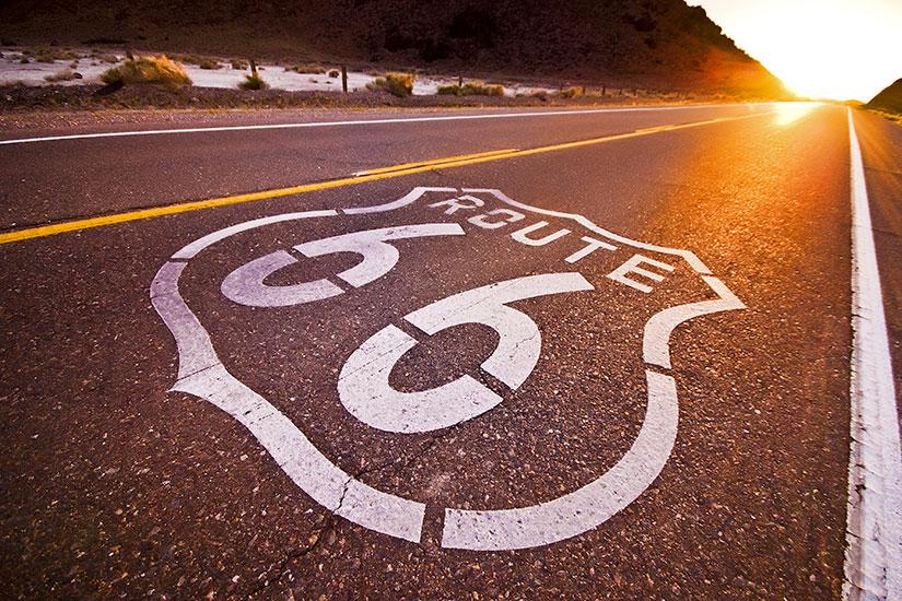 (vignette) Vignette Etats unis Route  coucher de soleil  fo