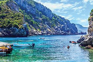 grece corfou cliffside cote  fo