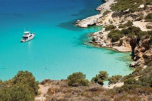 (vignette) Vignette Grece Crete Navire ancre dans la baie  fo
