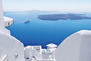 grece santorin blanc lavage escaliers  fo