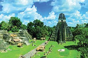 (vignette) Vignette Guatemala Tikal Vue de Ruines Panorama  fo