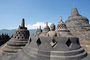(vignette) Vignette Indonesie Java Borobudur Yogyakarta temple  fo