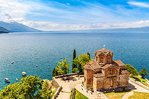 macedoine lac ohrid eglise jovan kaneo  it