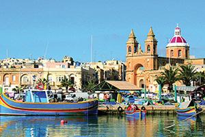 malte marsaxlokk port panorama  fo