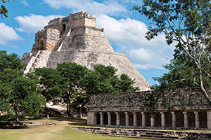 mexique uxmal attraction archeologue pyramide  it