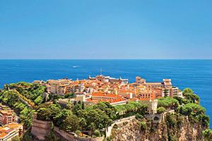 monaco vue panoramique avec le palais du prince  fo