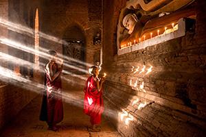 myanmar bagan moines bouddhistes  it