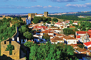 portugal obidos panorama  it
