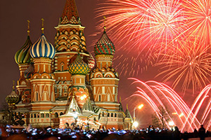 russie moscou feux artifice  fo