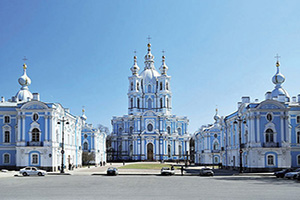 russie saint petersbourg cathedrale smolny et couvent  it