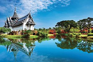 (vignette) Vignette Thailande Sanphet Prasat Palace Ancient City Bankok  fo