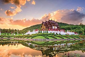 (vignette) Vignette Thailande royal flora Park de Chiang Mai  fo