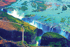 zimbabwe zambie chutes victoria  it  double