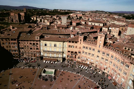 voyage italie sienne piazza campo
