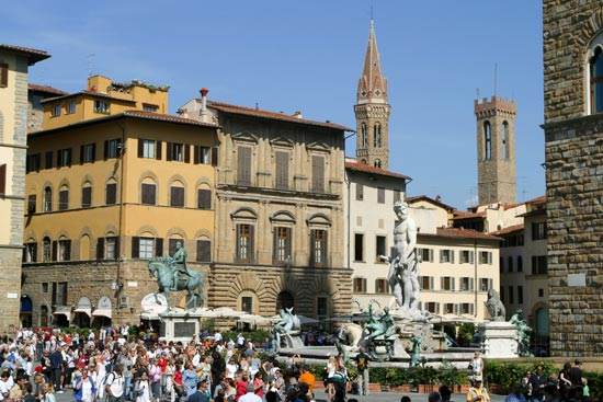 voyage italie piazza signoria florence toscane
