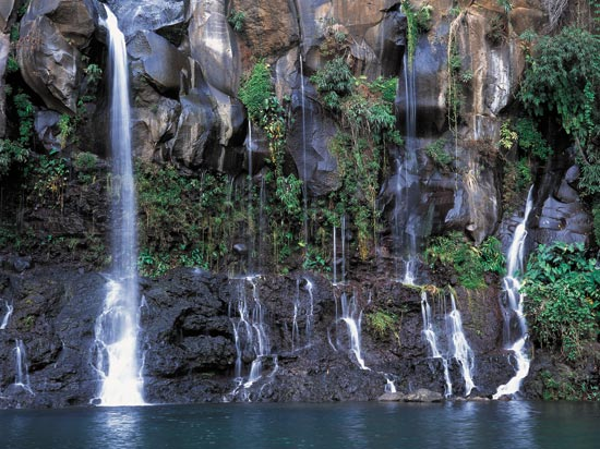voyage reunion maurice cascade