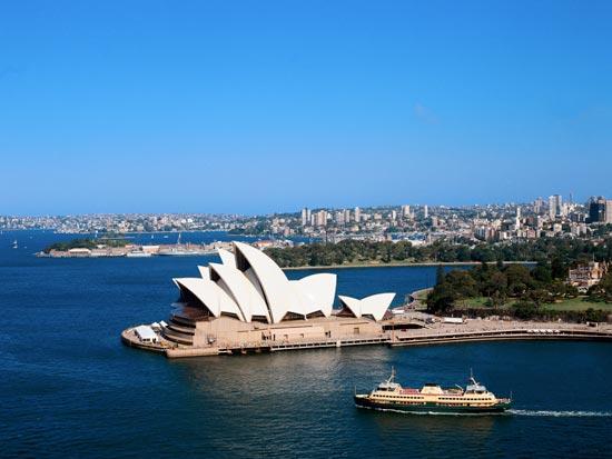 voyage australie sydney opera mer