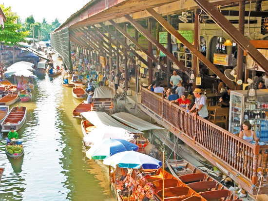 NT thailande damnoen saduak marche flottant fotolia
