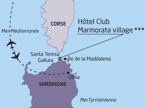 Carte Italie Et Sardaigne.Jours Nationaltours Groupes