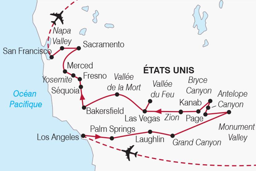 carte usa authentique californie 612726