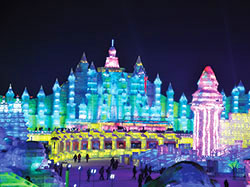 mini chine harbin festival sculptures glace