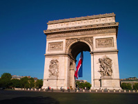 mini france paris arc de triomphe  istock