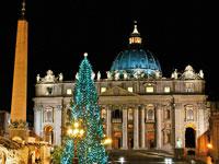 mini italie rome basilique st pierre noel  fotolia