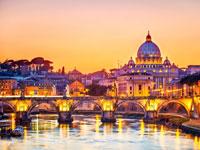 mini italie rome coucher soleil