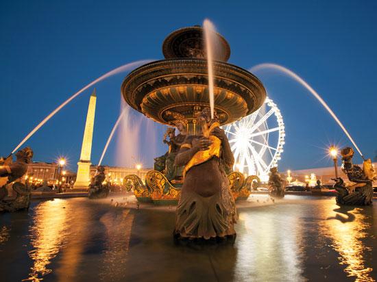 paris concorde fontaine  fotolia