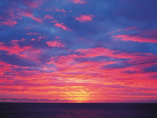 (Image) reunion 2012 coucher soleil